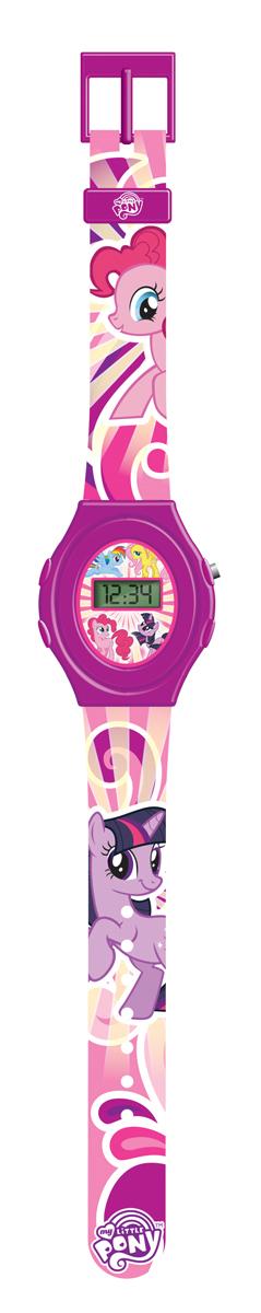 Часы наручные электронные My Little Pony, цвет: розовый. MLRJ6-1MLRJ6-1Оригинальные электронные детские часы с корпусом и браслетом из пластика. Циферблат защищен от повреждений прочным пластиковым стеклом. Электронные часы имеют 5 функций: месяц – день, часы – минуты – секунды. Товар изготовлен полностью из пластмассы с питанием от химических источников тока, 1 сменный элемент включен в комплект (LR41 (AG3) 1.5 V). Рекомендуемый возраст: от 3 лет.