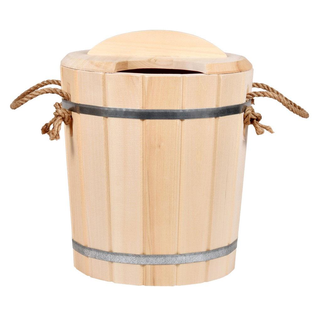 Запарник Банные штучки, с крышкой, 25 л03607Запарник Банные штучки, изготовленный из дерева, доставит вам настоящее удовольствие от банной процедуры. При запаривании веник обретает свою природную силу и сохраняет полезные свойства. Корпус запарника состоит из стянутых металлическими обручами клепок. Запарник оснащен деревянной крышкой с отверстием для веника и ручкой из веревки. Интересная штука - баня. Место, где одинаково хорошо и в компании, и в одиночестве. Перекресток, казалось бы, разных направлений - общение и здоровье. Приятное и полезное. И всегда в позитиве.