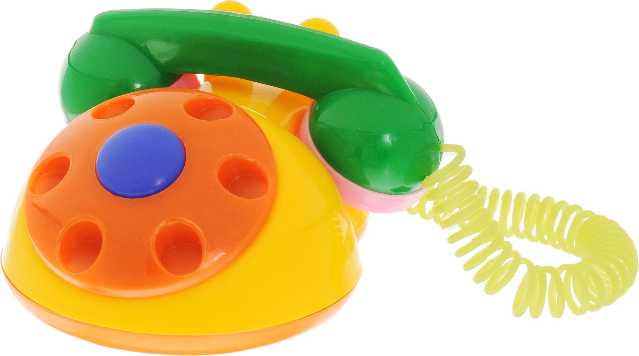 Аэлита Развивающая игрушка Телефон детский цвет желтый оранжевый
