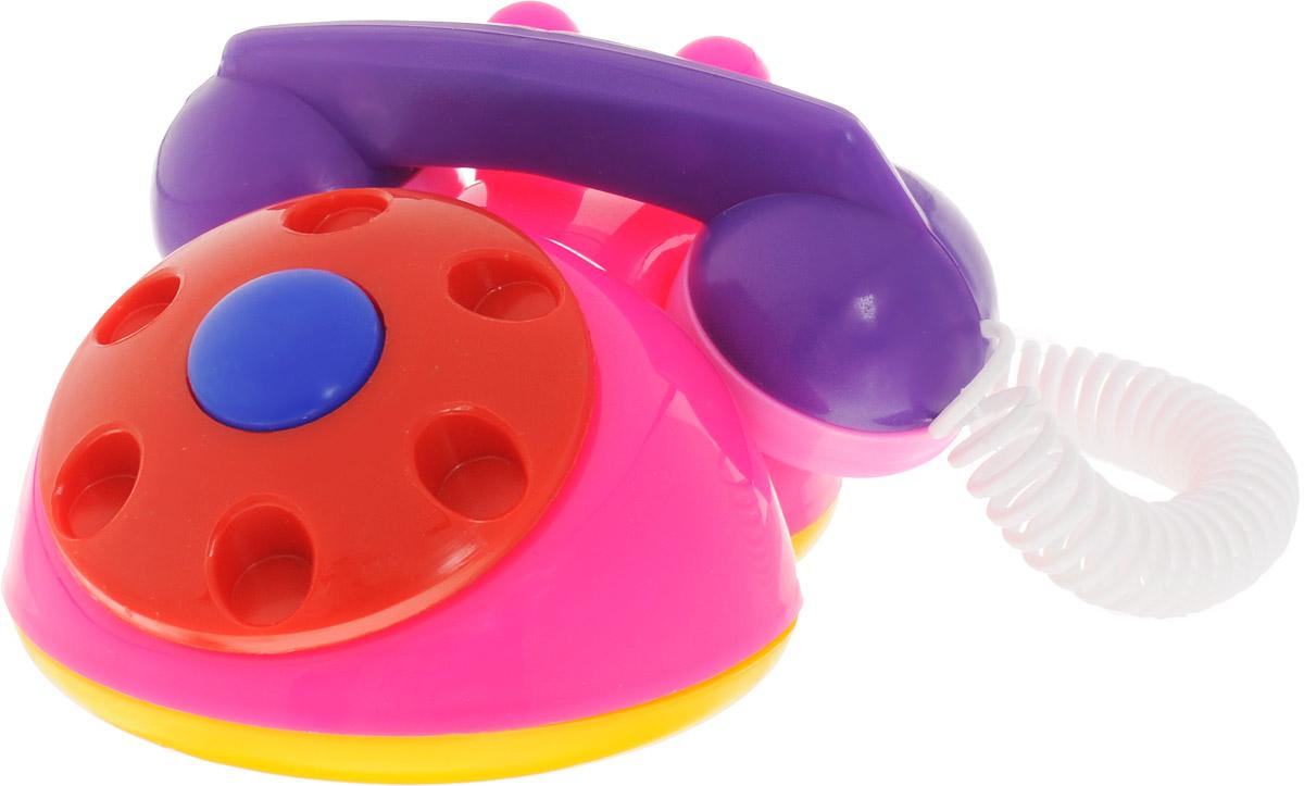 Аэлита Развивающая игрушка Телефон детский цвет розовый красный фиолетовый