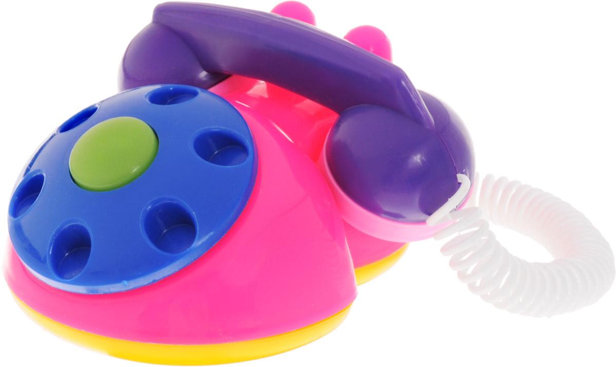 Аэлита Развивающая игрушка Телефон детский цвет розовый синий2С454_розовый, синийРазвивающая игрушка Аэлита Телефон детский изготовлена при участии детских врачей и педагогов, с учетом требований Роспотребнадзора РФ. По форме и цветовому оформлению игрушка идеально подходит для детских ручек и цветовосприятия ребенка. Играя с этим телефоном, ваш ребенок не только будет испытывать радость, но и научится познавать окружающий мир. В процессе игры развиваются слух, мышление, внимание, цветовое восприятие, координация движений и хватательный рефлекс.