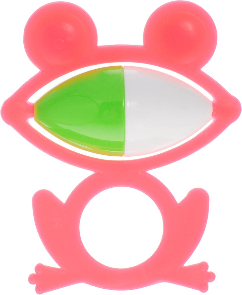 Аэлита Погремушка Лягушонок цвет розовый2С270_розовыйЯркая погремушка Аэлита Лягушонок не оставит вашего малыша равнодушным и не позволит ему скучать! Игрушка представляет собой лягушонка, внутри которого расположен небольшой зелено-белый шарик, выполняющий роль погремушки. Удобная форма ручки погремушки позволит малышу с легкостью взять и держать ее. Яркие цвета игрушки направлены на развитие мыслительной деятельности, цветовосприятия, тактильных ощущений и мелкой моторики рук ребенка, а элемент погремушки способствует развитию слуха. Товар сертифицирован.