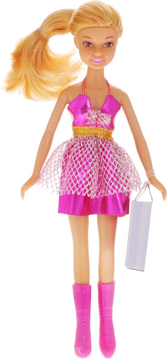 Defa Кукла Lucy цвет платья фуксия8220d_фуксияКукла Defa Lucy любит красиво наряжаться. Куколка одета в стильное яркое платье, на ногах у нее - высокие розовые сапожки. Вашей дочурке непременно понравится расчесывать и заплетать длинные волосы куклы. В набор с куклой входит бумажный пакет для покупок. Играя с такой куклой, ваша девочка воспитает в себе только самые положительные качества. Кукла изготовлена из качественных материалов. Кукла Defa Lucy станет отличным подарком для вашей девочки!