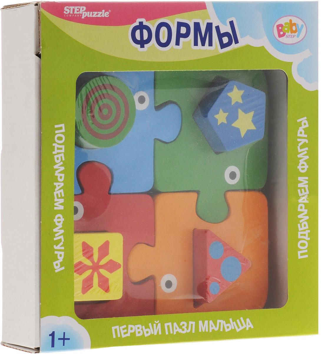 Step Puzzle Пазл для малышей Формы89028Пазл для малышей Step Puzzle Формы несет энергию живой природы, благотворно влияет на здоровье и психику ребенка. Пазл ориентирован на активное развитие мелкой моторики, сенсорики, речи, памяти, внимания, логического и образного мышления вашего ребенка. Элементы пазла выполнены из прочного дерева. Игра специально разработана для занятий с детьми от 1 года до 3х лет.