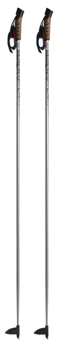 Палки лыжные Larsen Team, алюминиевые, длина 155 см221854-155Спортивные палки Larsen Team - это превосходный выбор для любителей активного катания на лыжах. Модель выполнена из легкого алюминия. Рукоятка выполнена из синтетической пробки и полипропилена, она имеет удобный хват, рука не мерзнет и не скользит по ручке. Гоночный темляк с конструкцией капкан удобно надевается и надежно поддерживает кисть. Облегченная лапка с твердосплавным наконечником не проваливается в снег. Спортивные палки подойдут как начинающим лыжникам, так и опытным спортсменам. Длина палок: 155 см.