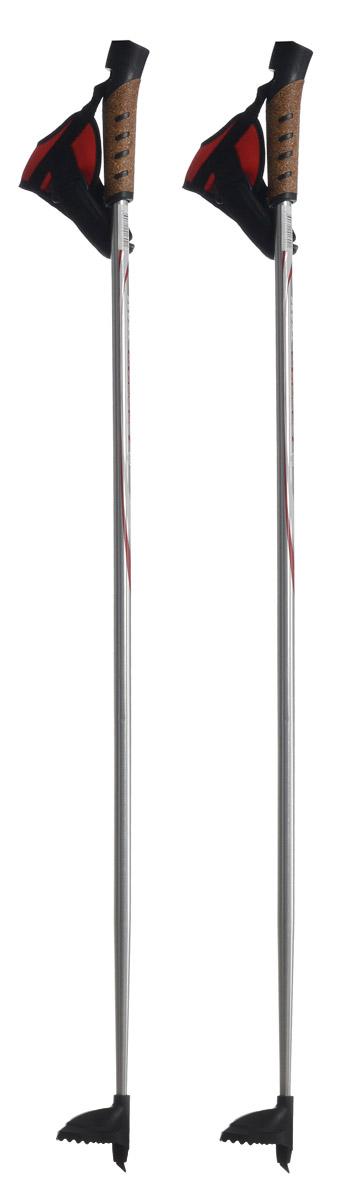 Палки лыжные Larsen Team, алюминиевые, длина 100 см221842-100Спортивные палки Larsen Team - это превосходный выбор для любителей активного катания на лыжах. Модель выполнена из легкого алюминия. Рукоятка выполнена из синтетической пробки и полипропилена, она имеет удобный хват, рука не мерзнет и не скользит по ручке. Гоночный темляк с конструкцией капкан удобно надевается и надежно поддерживает кисть. Облегченная лапка с твердосплавным наконечником не проваливается в снег. Спортивные палки подойдут как начинающим лыжникам, так и опытным спортсменам. Длина палок: 100 см.