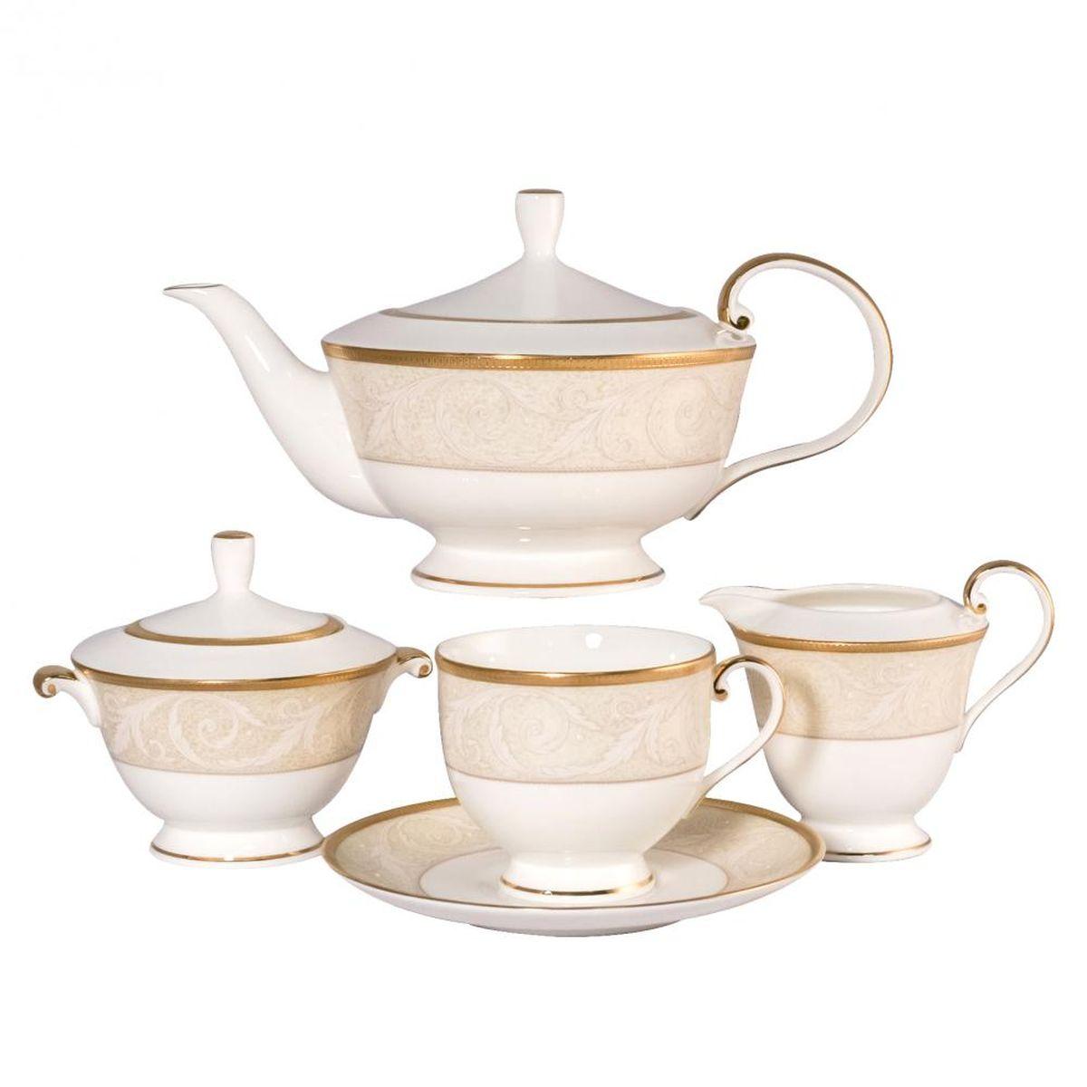 Сервиз чайный Narumi Ноктюрн золотой, 17 предметов51035-52302