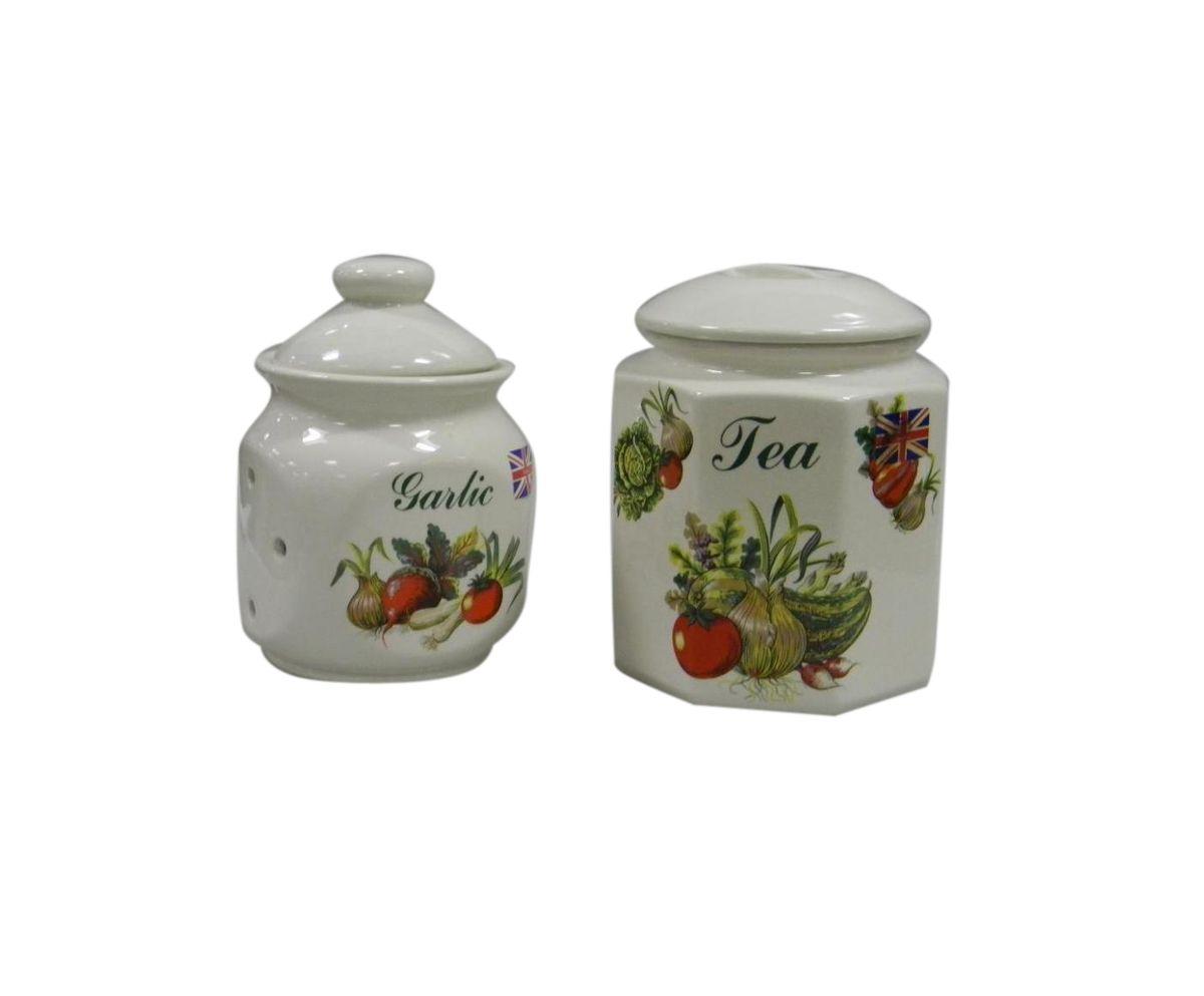 Набор банок для сыпучих продуктов Melba Овощи, 2 штМС 708/2ч