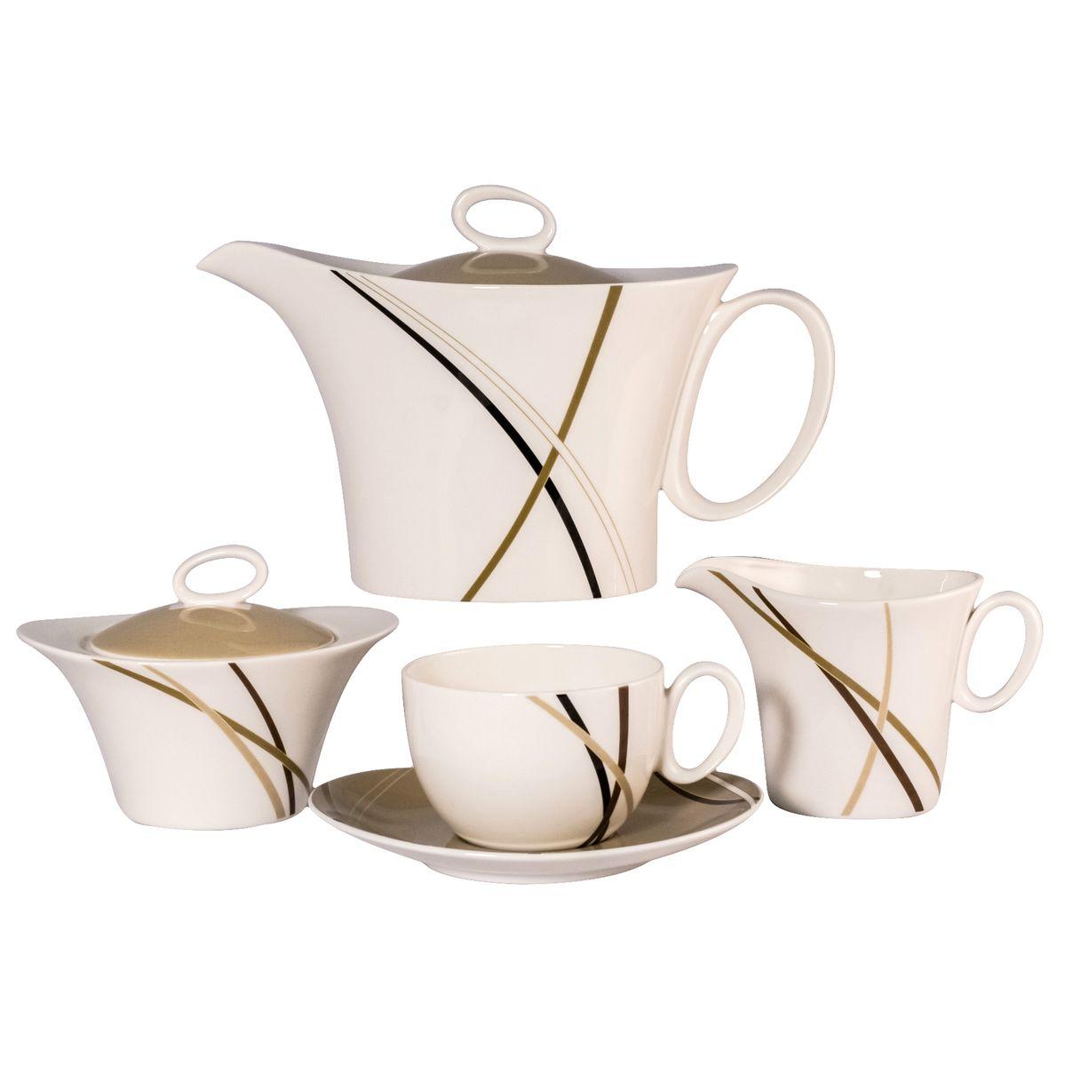 Сервиз чайный Royal Bone China Мокко, 17 предметов8939/17049
