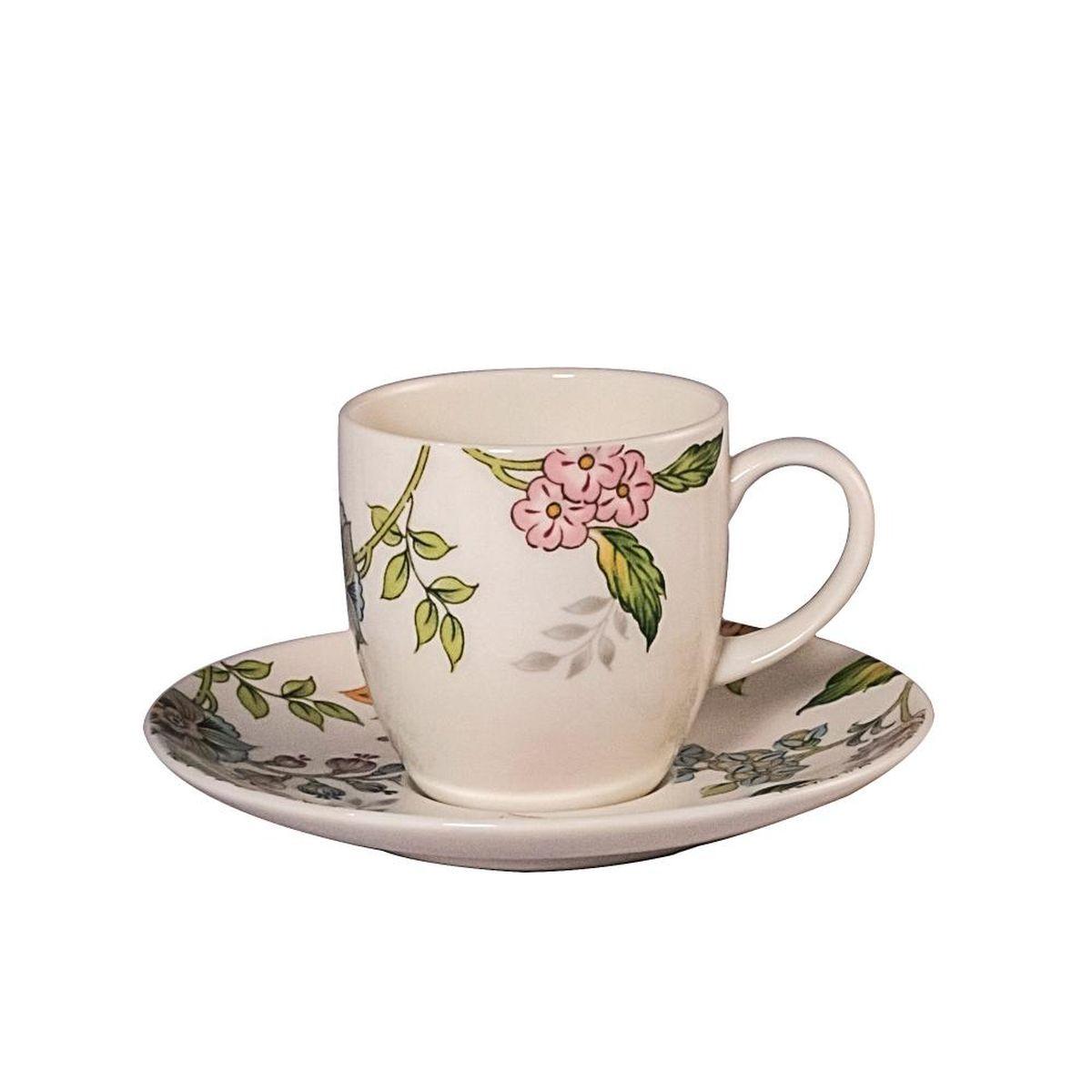 Набор кофейных пар Royal Bone China Прованс, 100 мл, 6 шт9016/12275