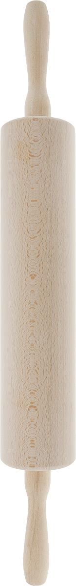 Скалка Kesper, длина 57 см6937-0Скалка Kesper, выполненная из высококачественной древесины, предназначена для раскатывания теста. Изделие имеет особо легкий ход благодаря шарикоподшипникам и сквозной металлической оси. Эргономичные подвижные ручки и вращающийся валик делают работу быстрой и приятной. Теперь вам не потребуется прилагать много усилий, чтобы раскатать тесто. Общая длина скалки (с ручками): 57 см. Длина валика: 33 см. Диаметр валика: 7,5 см.