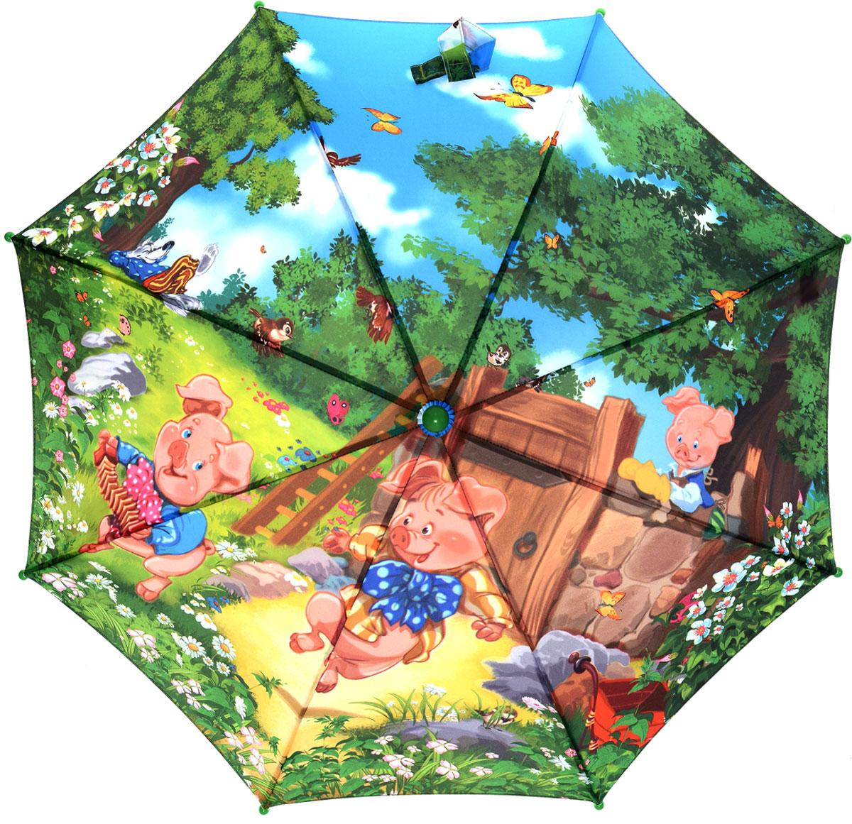 Зонт детский Zest, цвет: зеленый, розовый. 21665-0521665-05Красочный детский зонт ZEST выполнен из стали и полиэстера, обработанного водоотталкивающей пропиткой. Зонт оформлен принтом с рисунками из известнейших сказок. Зонт оснащен полуавтоматическим механизмом. Ручка пластиковая разработана с учетом требований эргономики. К зонту прилагается чехол. Детский зонт ZEST защитит от дождя и подарит улыбку вашему малышу.