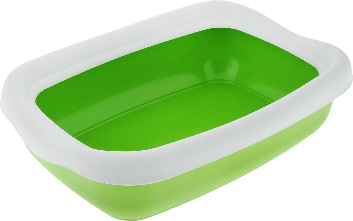 Туалет для кошек MPS Beta Maxi, с бортом, цвет: зеленый, белый, 49 х 39 х 16 смS08040200_зеленый, белыйТуалет для кошек MPS Beta Maxi изготовлен из качественного прочного пластика. Высокий борт, прикрепленный по периметру лотка, удобно защелкивается и предотвращает разбрасывание наполнителя. Это самый простой в употреблении предмет обихода для кошек и котов.