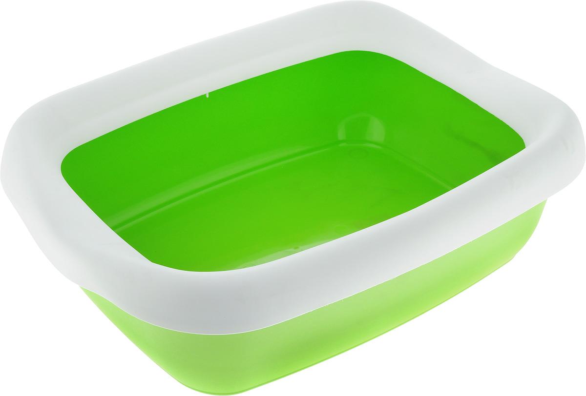 Туалет для кошек MPS Beta, с бортом, цвет: зеленый, белый, 43 х 31 х 12,5 смS08040100_зеленый, белыйТуалет для кошек MPS Beta изготовлен из высококачественного пластика. Высокий борт, прикрепленный по периметру лотка, удобно защелкивается и предотвращает разбрасывание наполнителя. Такой туалет не впитывает неприятные запахи и прекрасно отмывается.
