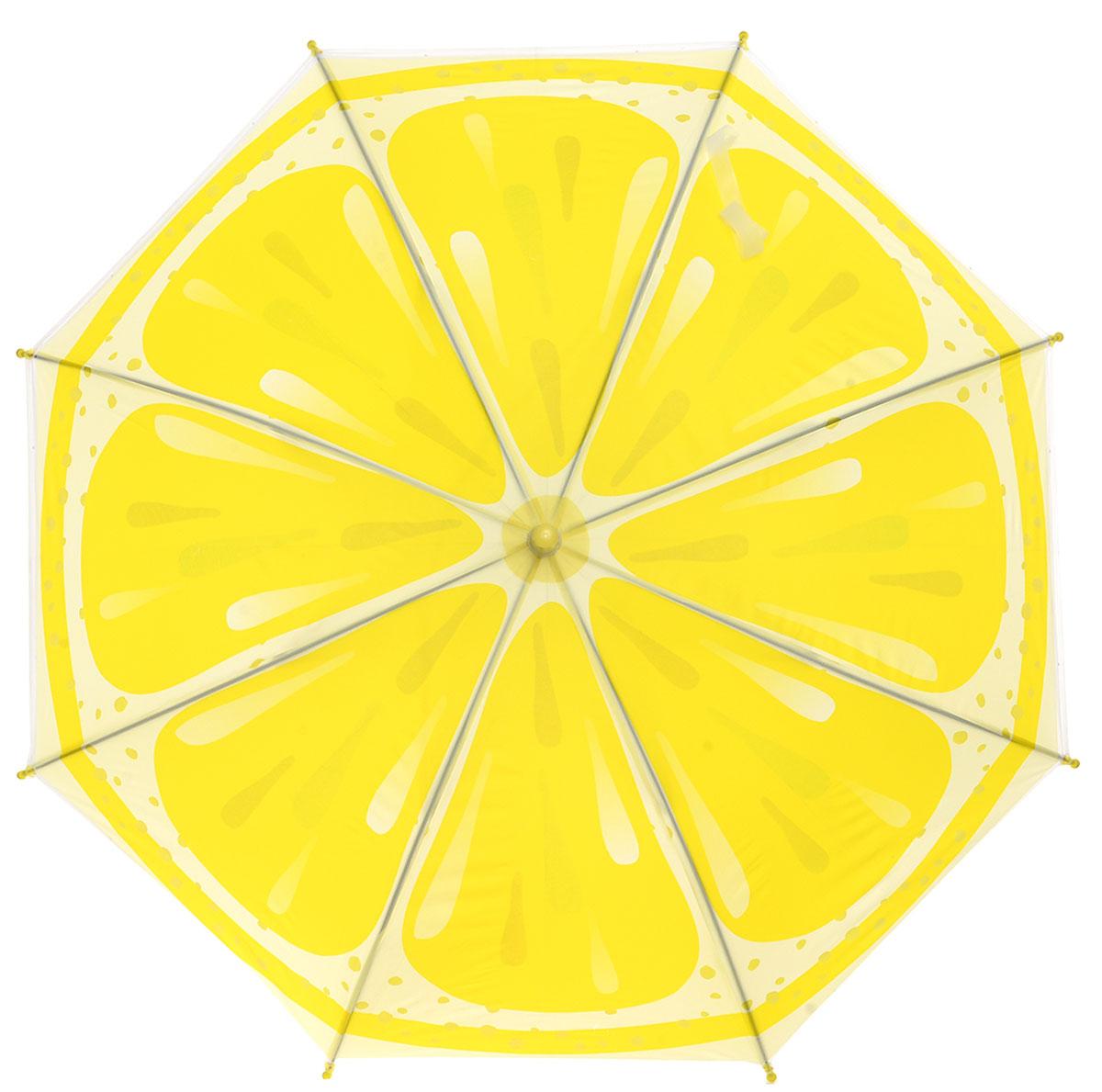 Зонт детский Mitya Veselkov, цвет: желтый. ZONT-LEMONZONT-LEMONДетский зонтик с металлическими спицами станет замечательным подарком для вашей малышки и защитит ее не только от дождя, но и от солнца. Благодаря легкому механизму ребенок самостоятельно сможет открывать и закрывать зонтик нажатием кнопки.