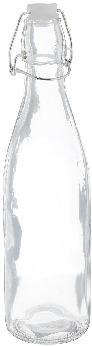 Емкость для масла и уксуса Zeller, 500 мл. 1971219712Емкость Zeller выполнена из прочного стекла и предназначена для хранения масла или уксуса. Крышка закрывается специальной силиконовой пробкой с металлической клипсой, что делает емкость герметичной. Такая емкость украсит любую кухню, внеся разнообразие как в строгий классический стиль, так и в современный кухонный интерьер. Это практичное и функциональное приобретение для вашей кухни.