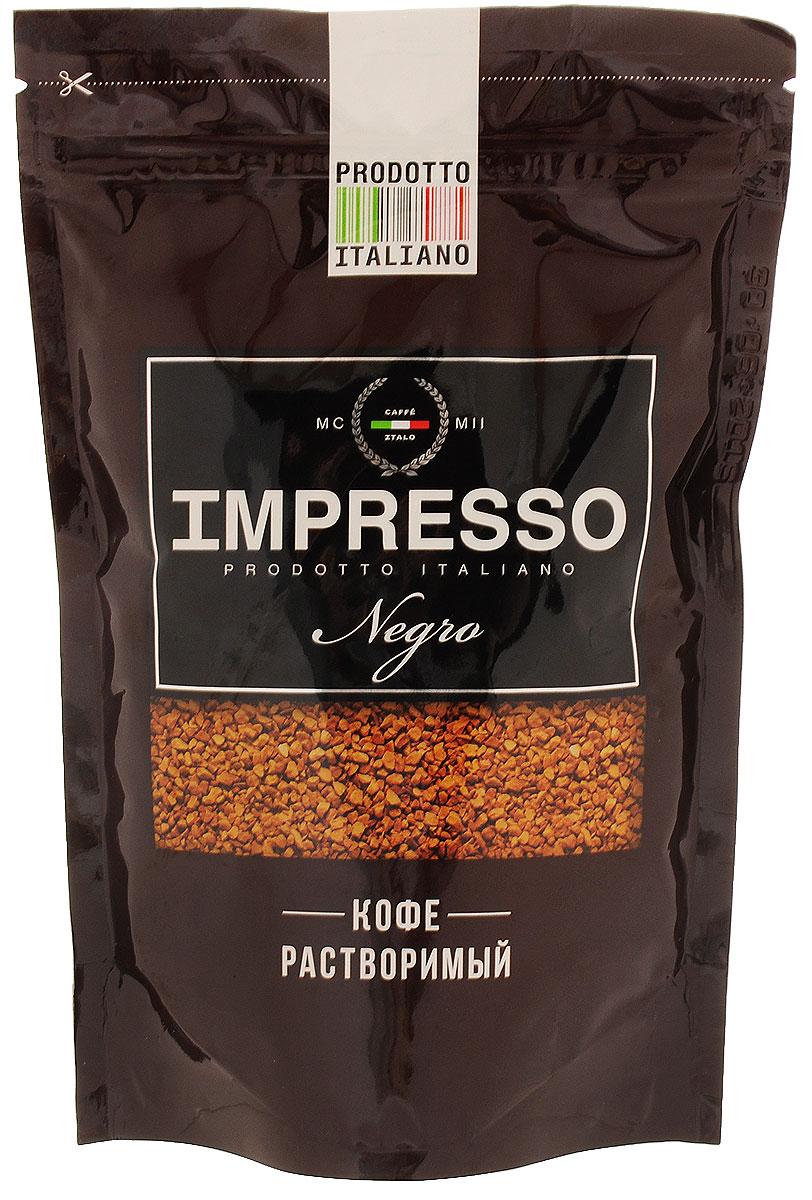 Impresso Negro кофе растворимый, 100 г8057288870049Impresso Negro - настоящий итальянский кофе, который восхищает полнотой вкуса и быстротой приготовления. Лучшие сорта арабики из Бразилии, Коста-Рики, Никарагуа, Мексики и Ямайки вошли в купаж Impresso, чтобы подарить миру кофе исключительного качества. Чтобы добавить оттенков вкусу Impresso, кофейные зерна прошли обжарку на медленном огне на старинном кофейном производстве, расположенном в высокогорье Альп. Именно поэтому растворимый Impresso раскрывает натуральный вкус итальянского кофе во всей его полноте.