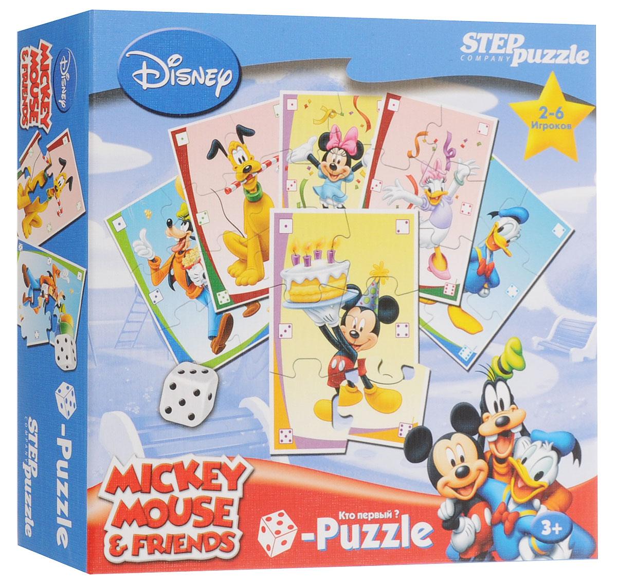 Step Puzzle Пазл для малышей Микки Маус87201Пазл для малышей Step Puzzle Микки Маус создан по со знаменитому мультгерою Микки Маусу. Собрав этот пазл, состоящий из 38 элементов, вы получите картинку с изображением любимых героев. Пазл - великолепная игра для семейного досуга. Сегодня собирание пазлов стало особенно популярным, главным образом, благодаря своей многообразной тематике, способной удовлетворить самый взыскательный вкус. Для детей это не только интересно, но и полезно. Собирание пазла развивает мелкую моторику ребенка, тренирует наблюдательность, логическое мышление, знакомит с окружающим миром, с цветом и разнообразными формами.