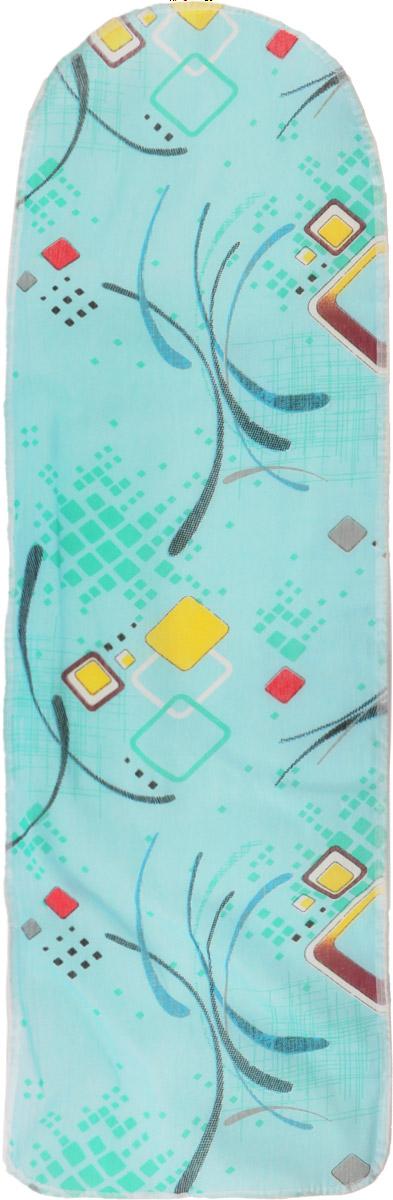 Чехол для гладильной доски Eva, цвет: бирюзовый, желтый, зеленый, 120 х 38 смЕ13*_красный, желтый, зелёныйЧехол для гладильной доски Eva выполнен из хлопчатобумажной ткани, с поролоновой подкладкой. Чехол предназначен для защиты или замены изношенного покрытия гладильной доски. Благодаря удобной системе фиксации легко крепится. Этот качественный чехол обеспечит вам легкое глажение. Размер чехла: 120 x 38 см. Максимальный размер доски: 112 x 32 см.