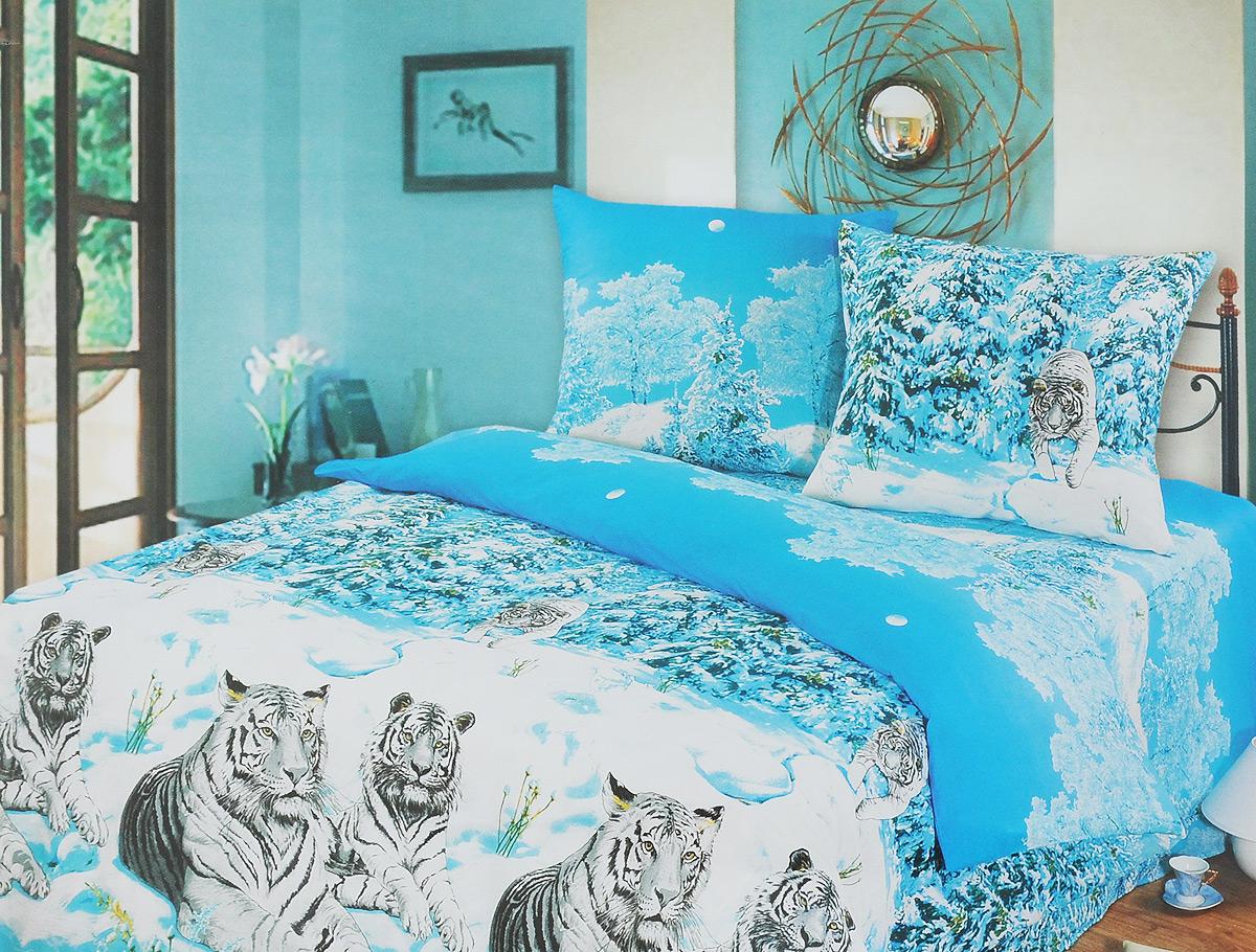 Комплект белья АртПостель Символ удачи, 1,5-спальный, наволочки 70х70, цвет: белый, голубой100/1_белый/голубой/тигрыКомплект белья АртПостель Символ удачи является экологически безопасным для всей семьи, так как выполнен из бязи (натурального хлопка). Комплект состоит из пододеяльника, простыни и двух наволочек. Постельное белье оформлено оригинальным рисунком и имеет изысканный внешний вид. Бязь - хлопчатобумажная плотная ткань полотняного переплетения. Отличается прочностью и стойкостью к многочисленным стиркам. Бязь считается одной из наиболее подходящих тканей для производства постельного белья и пользуется в России большим спросом.