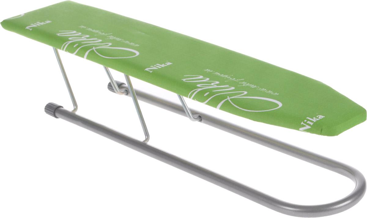 Подрукавник HITT Carina, для гладильной доски, складной, цвет:зеленый, 50 х 9 смH29-05313_зеленыйПодрукавник HITT Carina применяется для глажки рукавов и манжетов. Чехол изделия выполнен из высококачественного хлопка, внутри прослойка из поролона. Рабочая часть изготовлена из дерева. Рукав оснащен металлическими складными ножками. Размер рабочей части: 50 х 9 см. Высота рукава: 10,5 см.