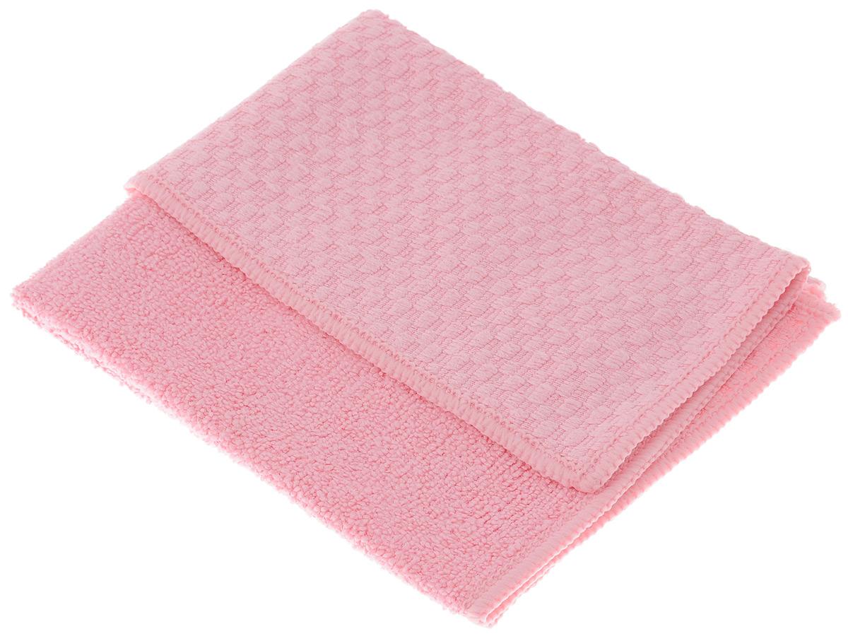 Салфетка универсальная Чистюля, цвет: розовый, 35 х 40 смМФ004_розовыйУниверсальная салфетка Чистюля, изготовленная из микрофибры (полиэстер и полиамид), предназначена для сухой и влажной уборки помещений. Два полимера работают как пылесос: притягивают влагу, жир, грязь и удерживают их в порах. Салфетка одним движением очищает грязь, поэтому поверхность не нужно протирать несколько раз. Одним-двумя взмахами очищает поверхность от моющего средства без пены и разводов, избавляя от необходимости несколько раз промывать поверхность и споласкивать салфетку. Это важно при мытье плиты, ванны, раковины. Для особо стойких загрязнений можно использовать небольшое количество моющего средства. Можно использовать и сухую салфетку: против пыли, следов пальцев, для оптики, полированных поверхностей электроприборов. Идеальна для поверхностей, которые нельзя мыть (только протирать): бытовая техника, выключатели, розетки, провода. Салфетка двухфактурная: махровая сторона лучше впитывает, а вафельная - лучше отчищает...
