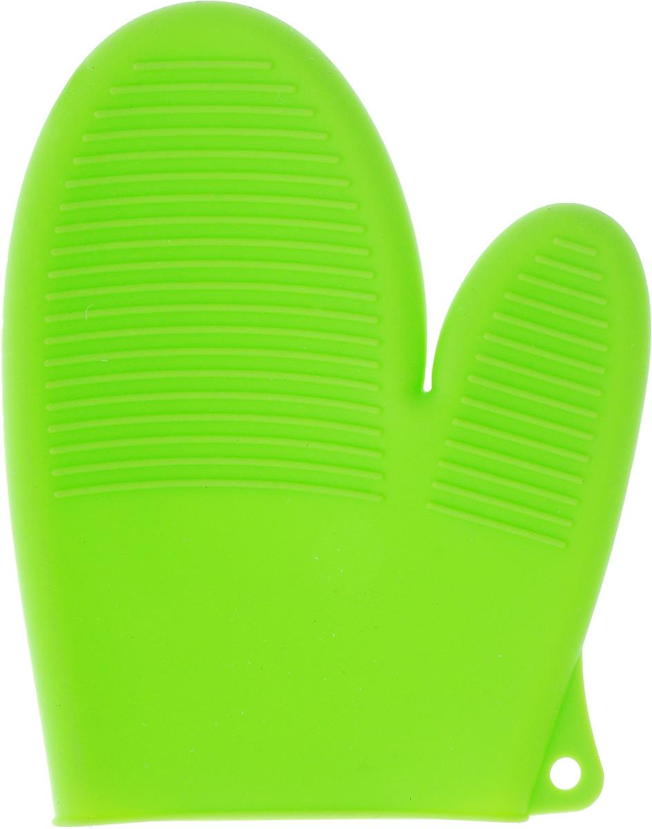 Варежка-прихватка Paterra, силиконовая, цвет: салатовый, 21 х 16 см402-498_зеленыйСиликоновая варежка-прихватка Paterra предназначена для защиты рук от ожогов при контакте с горячей посудой. Качественный силикон в составе изделия выдерживает значительный температурный диапазон от -40°С до +250°С. Поэтому вы с легкостью сможете снять горячую посуду с плиты, извлечь форму для выпекания или противень из разогретого до максимальной температуры духового шкафа, микроволновой печи. Варежка-прихватка полностью закрывает кисть руки, обеспечивая ее надежную защиту от высоких температур. Эластичность материала позволяет варежке-прихватке не стеснять движений руки в процессе использования. Силиконовая варежка-прихватка не плавится, легко моется и не впитывает запахи.