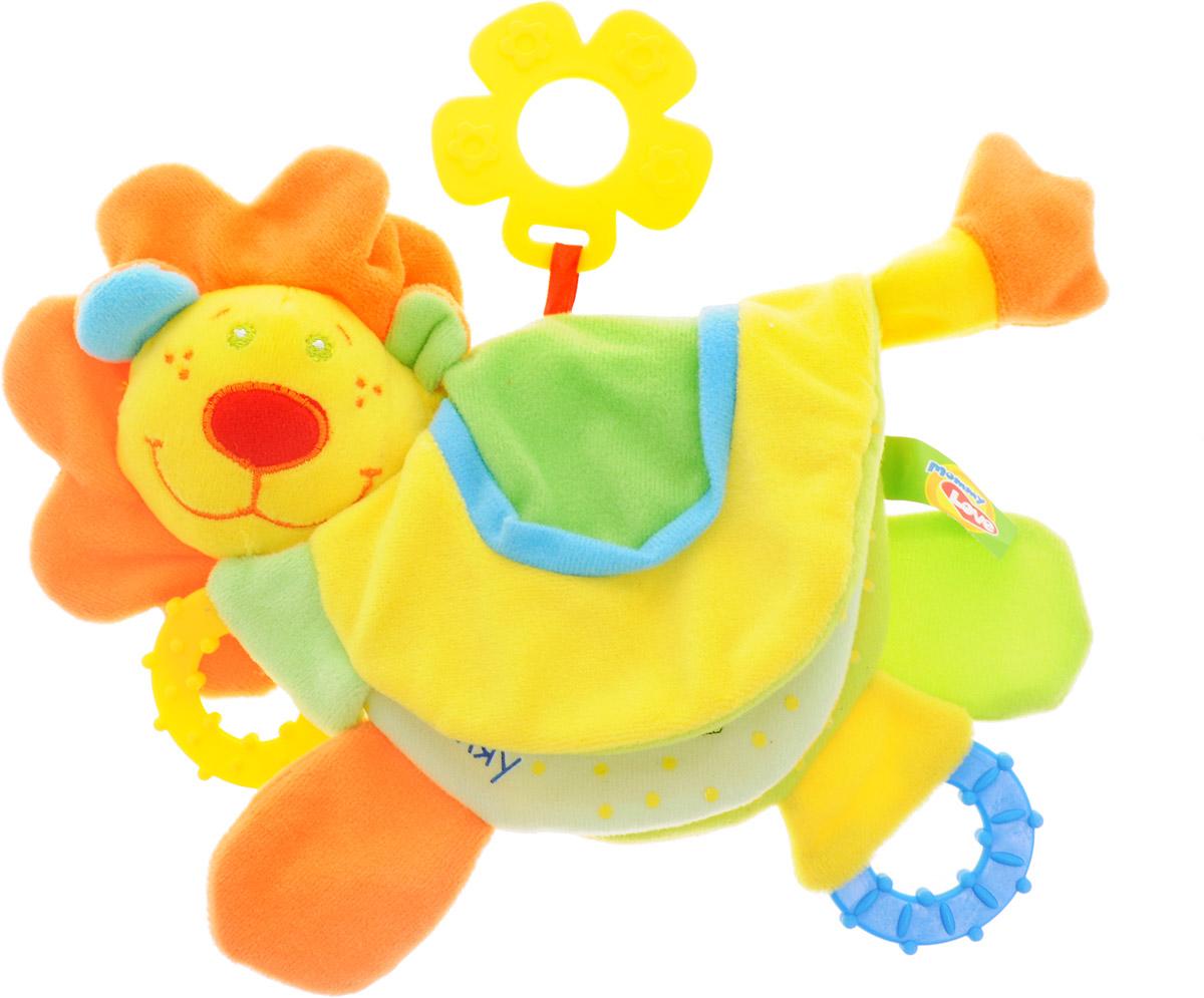 Mommy Love Развивающая игрушка Лев РороLKM0\MРазвивающая игрушка Mommy Love Лев Роро - это маленький львенок, который очень понравится вашему малышу. Шуршащая грива, прорезыватели, цветные странички, встроенная погремушка и пищалка развивают слух, приятный на ощупь материал, специальная форма игрушки и подобранная цветовая гамма удовлетворяют потребности ребенка в телесно-кинестетических, визуальных и вербальных контактах, самых важных до одного года.