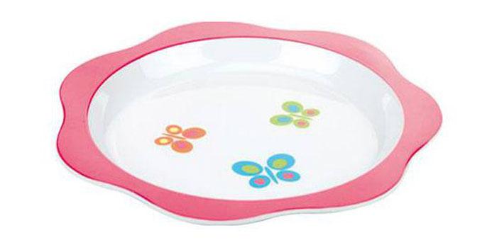 Тарелка Tescoma Bambini. Бабочки. 668012668012Тарелка для детей. Из-за формы и дизайна кормление ребенка станет легким и веселым! Не рекомендуется использовать в микроволновой печи, нагрев пищи может быть не равномерным, возможно обжечь ребенка. Продукт подходит для детей с 6 месяцев. Материал: пластик