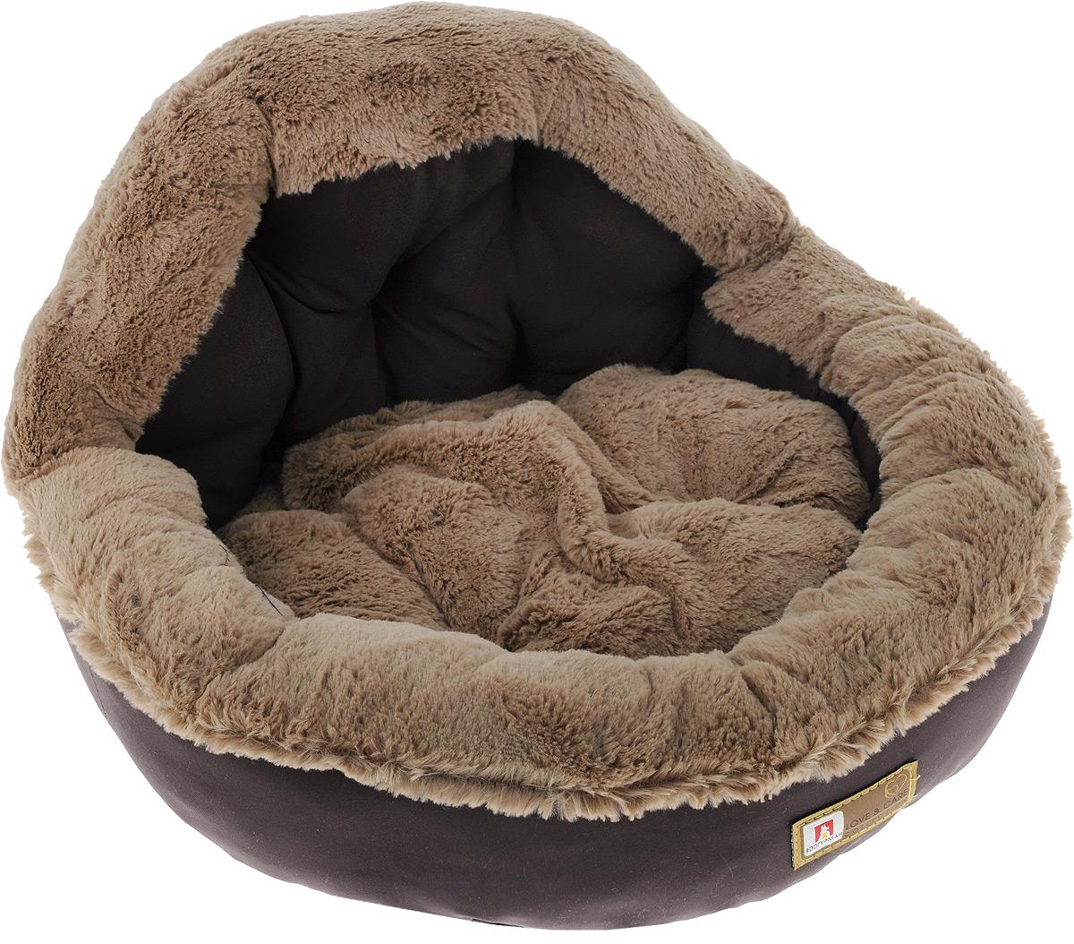 Лежак для собак и кошек Зоогурман Президент, цвет: шоколадный, 45 х 45 х 20 см2199Мягкий и уютный лежак для кошек и собак Зоогурман Президент обязательно понравится вашему питомцу. Лежак выполнен из нежного, приятного материала. Внутри - мягкий наполнитель, который не теряет своей формы долгое время. Внутри лежака съемная меховая подушка. Мягкий, приятный и теплый лежак обеспечит вашему любимцу уют и комфорт. Подходит как для кошек, так и для собак. За изделием легко ухаживать, можно стирать вручную или в стиральной машине при температуре 40°С. Материал бортиков: микроволоконная шерстяная ткань. Материал спинки и матрасика: искусственный мех. Наполнитель: гипоаллергенное синтетическое волокно.