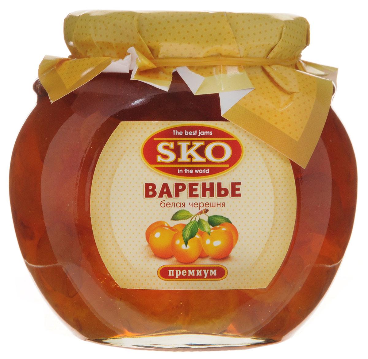 SKO варенье из белой черешни, 400 г11003Варенье из белой черешни SKO - армянское варенье, приготовленное по домашним рецептам и современным технологиям, не содержит пектина. Может использоваться для приготовления пирогов, тортов и других разнообразных десертов, а также в качестве самостоятельного лакомства. Варенье из сладких и мясистых плодов белой черешни получается просто изумительным. Оно полезно при гипертонических болезнях, болезнях почек и печени, ревматизме, артрите, подагре, малокровии, атонии кишечника, запорах и других заболеваниях желудочно-кишечного тракта, язве желудка и двенадцатиперстной кишки, гастрите с повышенной кислотностью, расстройствах нервной системы.