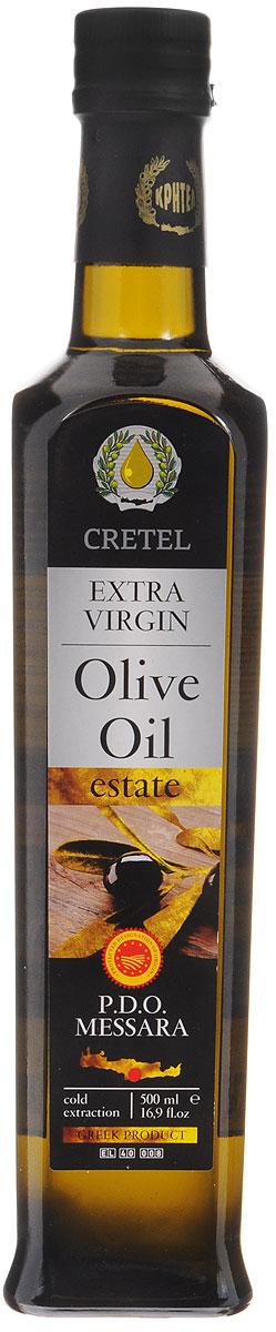 Cretel Extra Virgin масло оливковое P.D.O. Messara, 500 мл16008Оливковое масло Cretel Extra Virgin. P.D.O. Messara - это уникальный продукт авторского права, который закрепляет за производителем право гарантированный регион производства, с информацией на упаковке о конкретном районе производства, в данном случае, в районе Мессара, на о. Крит (Греция). Оливки были выращены, собраны и отжаты в масло полностью в определенном географическом регионе. Весь процесс изготовления этого масла, как говорилось выше, производится на месте сбора сырья. Маркировка дает гарантию потребителю, что масло не является ни в коем случае смесью масел. Один из главных показателей качества оливкового масла - кислотность, она составляет 0,3-0,6%.