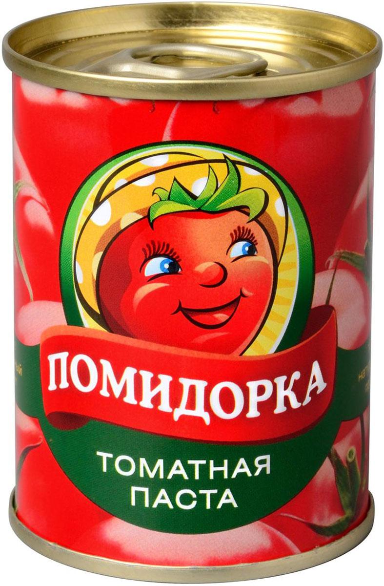 Помидорка Томатная паста, 140 г2249Томатная паста Помидорка - гармоничный продукт с оригинальным свежим вкусом, насыщенным цветом и ароматом. В ней отсутствуют искусственные пищевые добавки - это полностью натуральный продукт. Томатная паста Помидорка очень густая (содержит более 25-28% сухих веществ) и приготовлена только из помидоров.