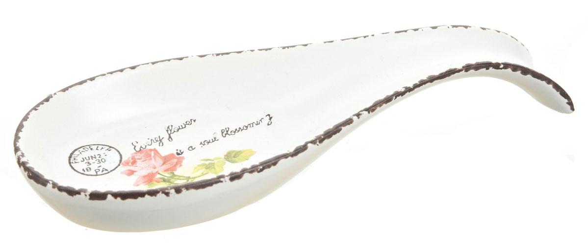 Подставка под ложку ENS Group Flower1750038Подставка под ложку керамическая, украшена изящным рисунком. Станет помощником на кухне и оживит интерьер благодаря веселой расцветке.