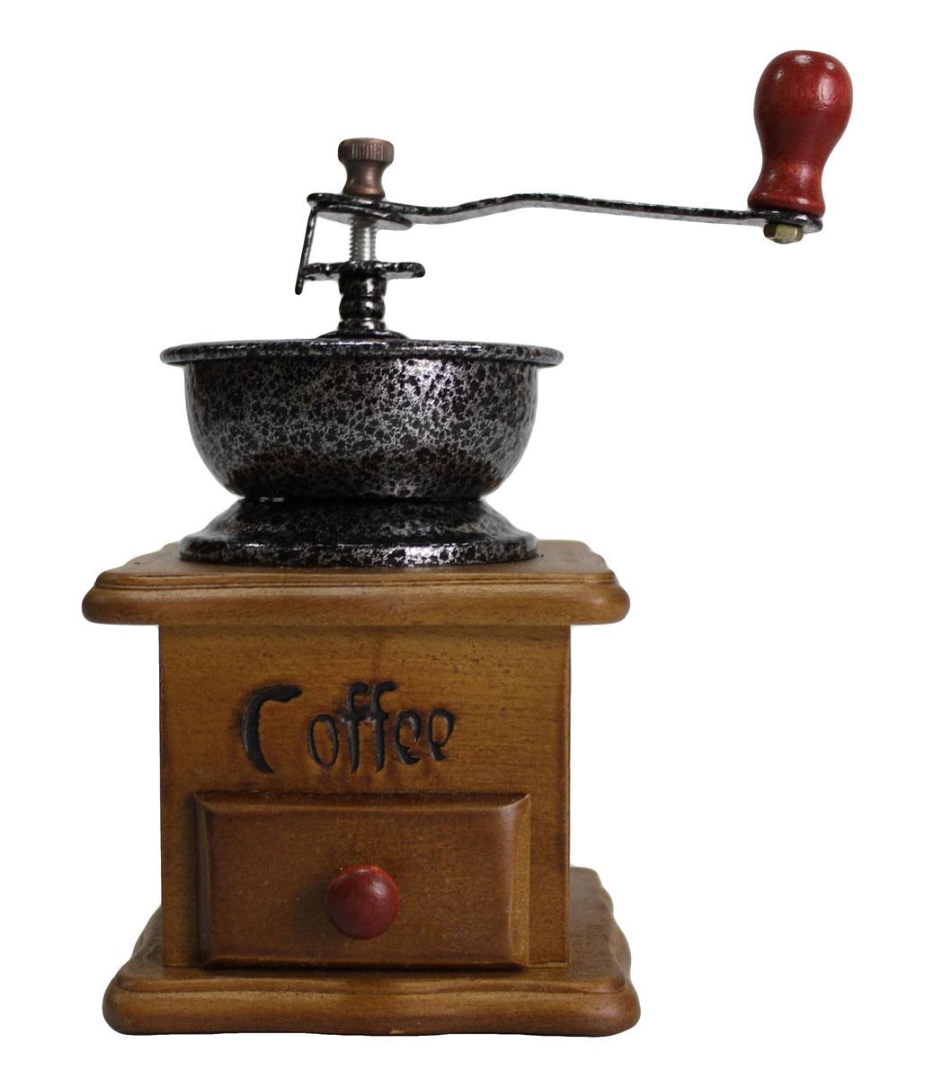 Кофемолка N/N, с деревянным основанием827001Деревянная ручная кофемолка с металлическим механизмом, чугунными жерновами и регулировкой помола. Ручная кофемолка сохраняет кофе более ароматным. Выполнена в элегантном дизайне, прекрасно подойдет в качестве подарка.