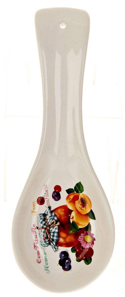 Подставка под ложку Polystar Джем, 8,5 х 24 х 2,5 смL2430684Подставка для ложки Джем изготовлена из прочного доломита высокого качества. Данное изделие оформлено красочным дизайном и имеет стильный внешний вид. Подставка предназначена для поддержания чистоты на кухонном столе при приготовлении пищи. Поставьте ее рядом с плитой, и кладите на подставку ложку, половник или лопатку, которыми вы помешиваете блюда.