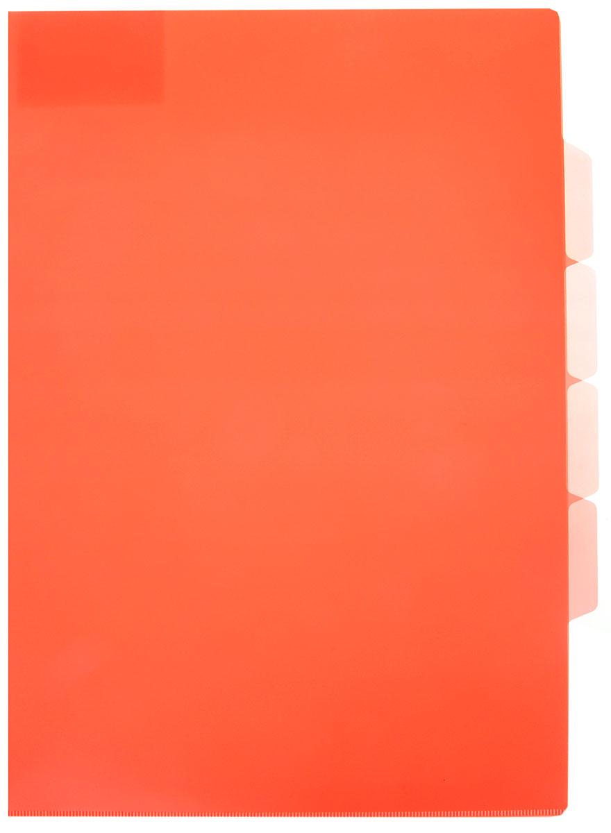 Бюрократ Папка-уголок цвет коралловый854120_коралловыйПапка-уголок Бюрократ станет вашим надежным помощником в учебных или офисных делах. Папка-уголок формата А4 изготовлена из прочного полипропилена. Она имеет три отделения для размещения бумаг с разделителями для маркировки. Такой аксессуар всегда будет сохранять ваши документы в опрятном и чистом виде.