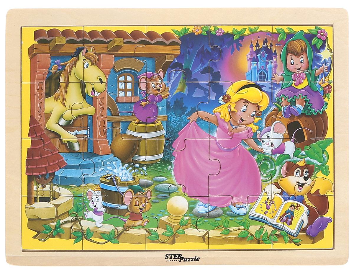 Step Puzzle Пазл для малышей Золушка89716Пазл для малышей Step Puzzle Золушка ориентирован на активное развитие мелкой моторики, сенсорики, речи, памяти, внимания, логического и образного мышления вашего ребенка. Элементы пазла выполнены из прочного дерева с изображением Золушки в окружении зверушек. Игра специально разработана для занятий с детьми от 3 лет.