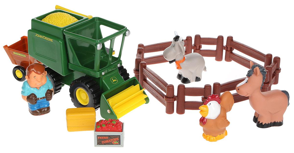 Tomy Игровой набор Уборка урожая43069A1Игровой набор Tomy Уборка урожая - это отличный игровой набор, который придется по вкусу любому ребенку. Забор, комбайн с прицепом, ящики с овощами, фигурки животных и фермера выполнены очень реалистично, поэтому в какой-то момент может показаться, что игра происходит на настоящей ферме. Играя с набором, ребенок сможет самостоятельно придумать увлекательный сюжет.