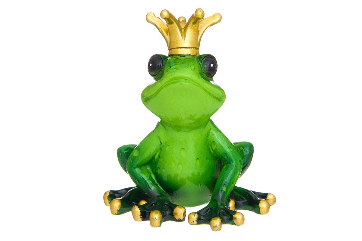 Фигурка декоративная Elan Gallery Царевна - лягушка, 8 х 6,5 х 10 см870201Декоративные фигурки в виде забавных лягушат, изготовленные из полистоуна, станут необычным аксессуаром для вашего интерьера. Эти очаровательные вещицы станут отличным подарком Вашим друзьям и близким.