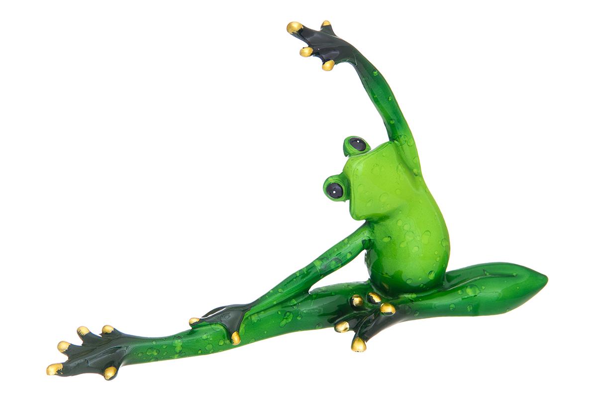 Фигурка декоративная Elan Gallery Лягушка-балерина, высота 12 см870204Декоративные фигурки - это отличный способ разнообразить внутреннее убранство вашего дома. Декоративная фигурка с изображением лягушки станет прекрасным сувениром, который вызовет улыбку и поднимет настроение. Фигурка выполнена из полистоуна. Размер статуэтки: 20 х 5,5 х 12 см.