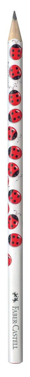 Faber-Castell Чернографитовый карандаш Triangular цвет корпуса белый красный черный
