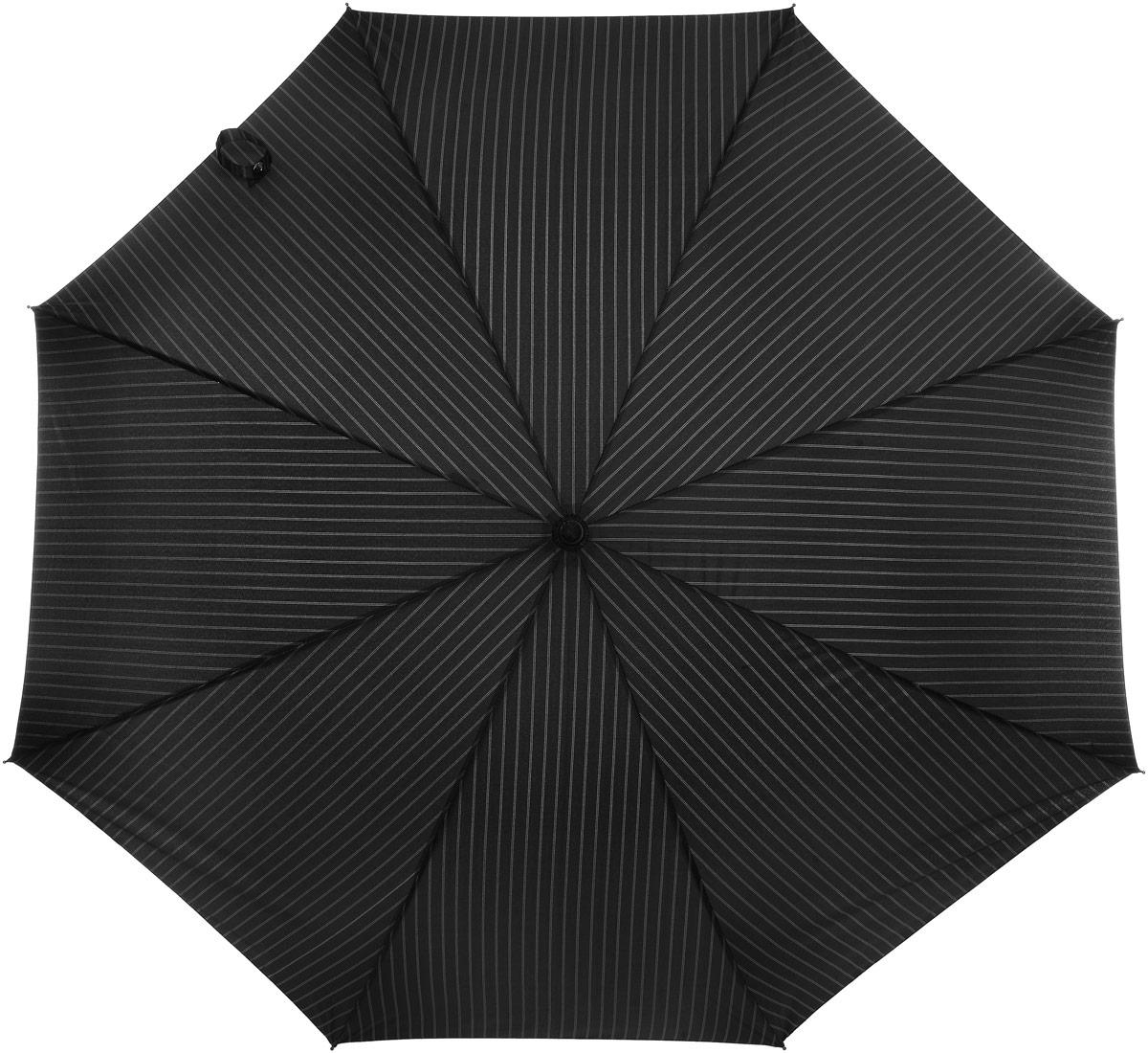 Зонт женский Eleganzza, цвет: черный. T-05-XL67T-05-XL67Мужской зонт-трость торговой марки Eleganzza. Купол: 100% полиэстер, эпонж. Материал каркаса: фиберголасс. Материал ручки: пластик. Длина изделия - 100 см. Диаметр купола - 130 см.