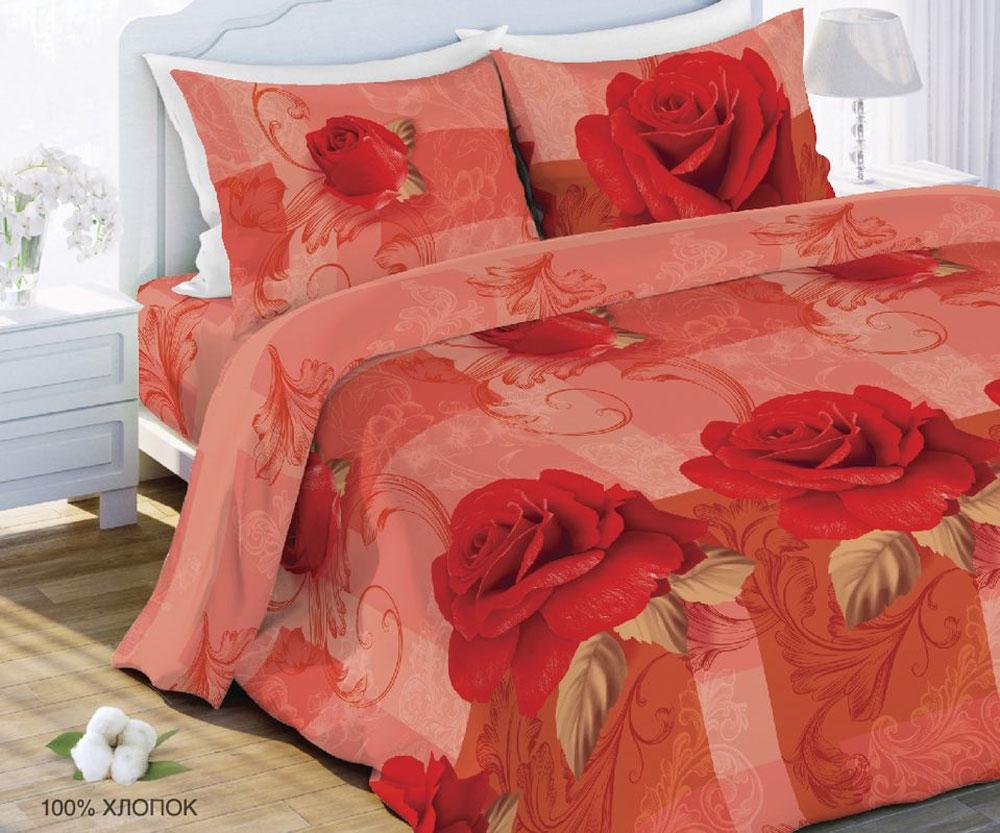 Комплект белья Любимый дом Роза, семейный, наволочки 70x70327669Комплект постельного белья коллекции Любимый дом выполнен из высококачественной ткани - из 100% хлопка. Такое белье абсолютно натуральное, гипоаллергенное, соответствует строжайшим экологическим нормам безопасности, комфортное, дышащее, не нарушает естественные процессы терморегуляции, прочное, не линяет, не деформируется и не теряет своих красок даже после многочисленных стирок, а также отличается хорошей износостойкостью.