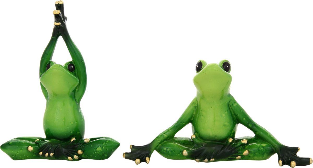 Фигурка декоративная Elan Gallery Лягушки йога, 15 х 12 см, 2 предмета870010Декоративные фигурки - это отличный способ разнообразить внутреннее убранство дома, частичка вашей индивидуальности в облике жилища!