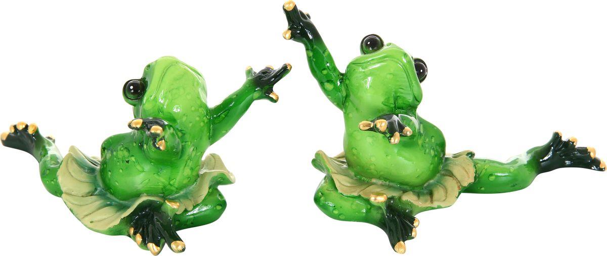 Фигурка декоративная Elan Gallery Лягушки-танцовщицы, 13 х 9 см, 2 предмета870024Декоративные фигурки - это отличный способ разнообразить внутреннее убранство дома, частичка вашей индивидуальности в облике жилища!