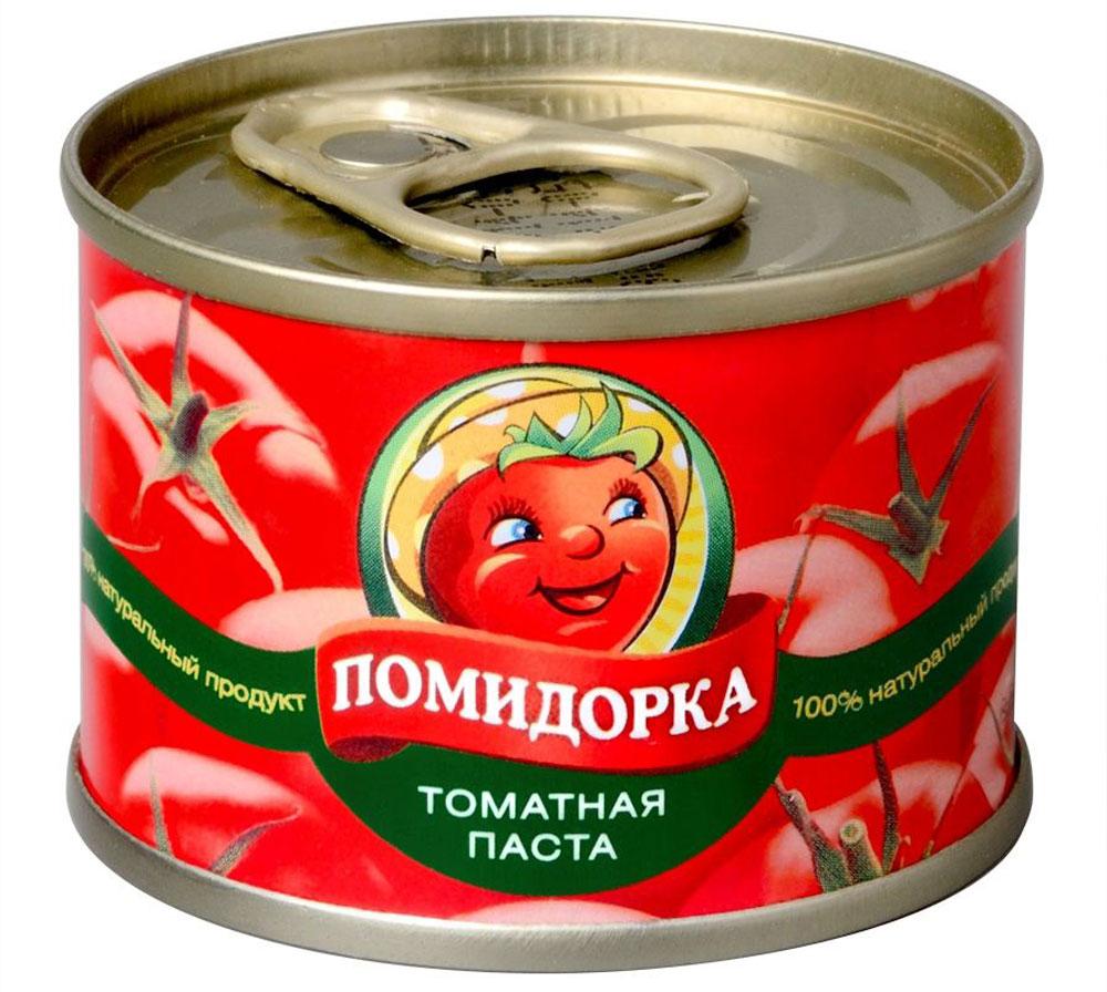 Помидорка Томатная паста, 70 г5032Томатная паста Помидорка - гармоничный продукт с оригинальным, свежим вкусом, насыщенным цветом и ароматом. В ней отсутствуют искусственные пищевые добавки - это полностью натуральный продукт. Томатная паста Помидорка густая (содержит более 25-28% сухих веществ) и приготовлена только из помидоров. Рекомендуется использовать для приготовления сока, соусов, пиццы, подлив, супов, вторых блюд.