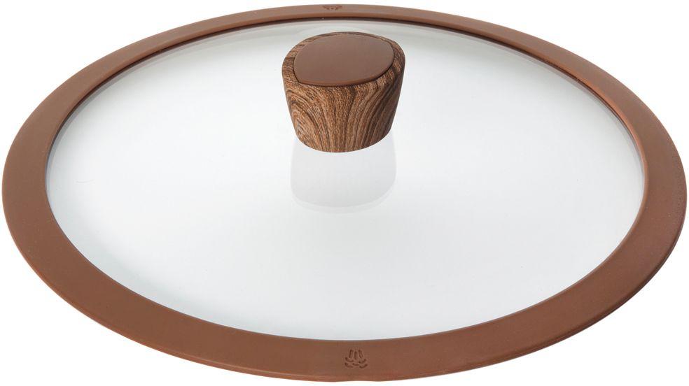 Крышка стеклянная Nadoba Greta, с силиконовым ободом. Диаметр 26 см751312Крышка Nadoba Greta, изготовленная из закаленного стекла, имеет силиконовый обод, благодаря чему идеально прилегает к посуде и обеспечивает равномерное распределение температуры внутри нее. Крышка имеет удобную ненагревающую ручку из пластика с силиконовым покрытием, предотвращающим выскальзывание из рук. По бокам изделие оснащено пароотводом. Такая крышка позволит следить за процессом приготовления пищи без потери тепла. Она плотно прилегает к краям посуды, сохраняя аромат блюд.