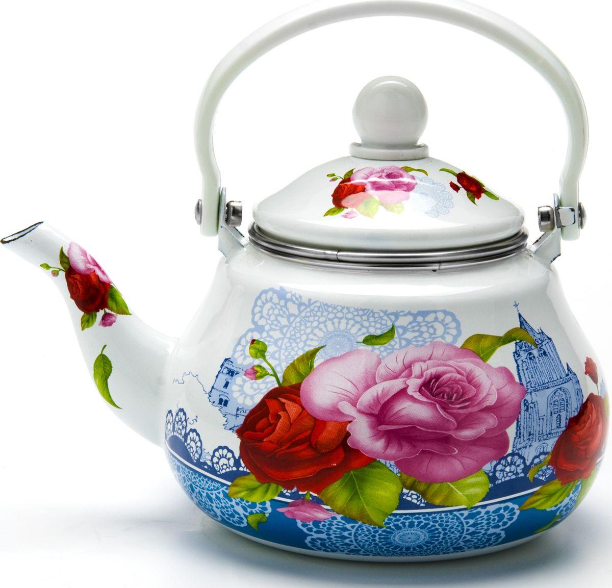 Чайник заварочный Mayer & Boch Розы с фильтром, 1,5л23984
