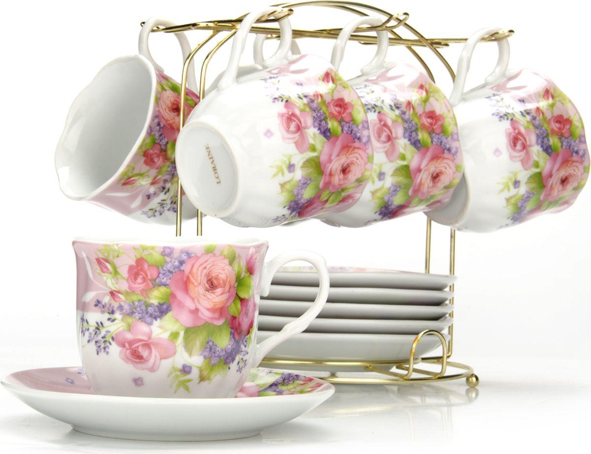 Сервиз чайный Loraine, на подставке, 13 предметов. 4328025936